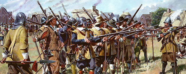 The history of the National Guard began on December 13, 1636, when the General Court of the Massachusetts Bay Col